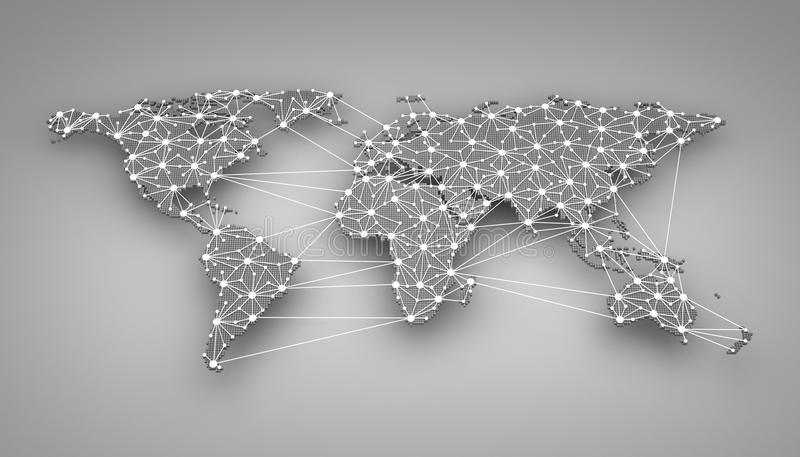 World-wide web. On blue background (done in 3d royalty free illustration