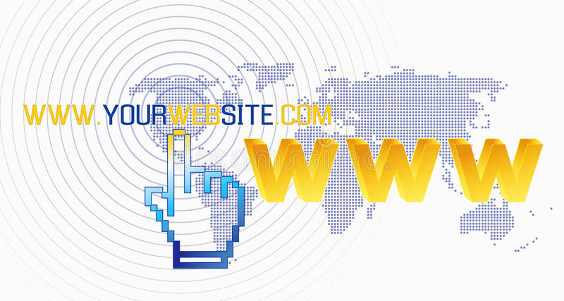 World wide web commercial business network. Background template for your web site royalty free illustration