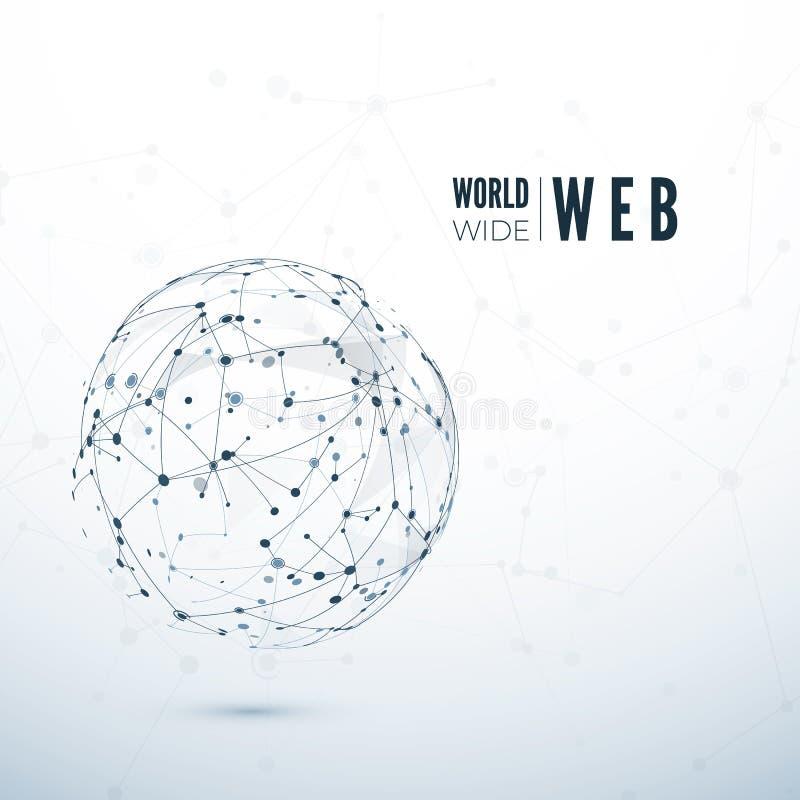 World Wide Web Concept global de transfert des données Illustration de vecteur illustration stock