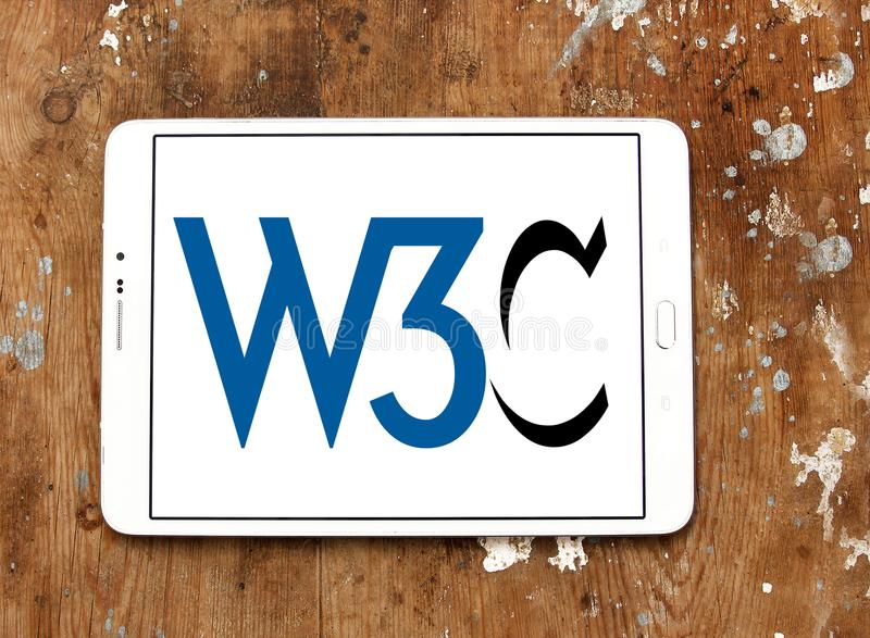 World Wide Web-Consortium, W3C, embleem stock foto