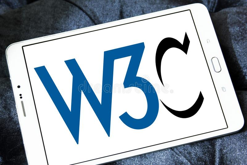 World Wide Web-Consortium, W3C, embleem stock fotografie