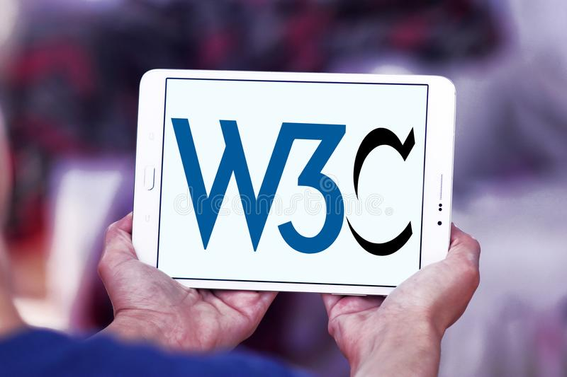 World Wide Web-Consortium, W3C, embleem royalty-vrije stock fotografie