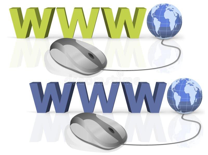 World Wide Web de connexion internet de WWW illustration libre de droits
