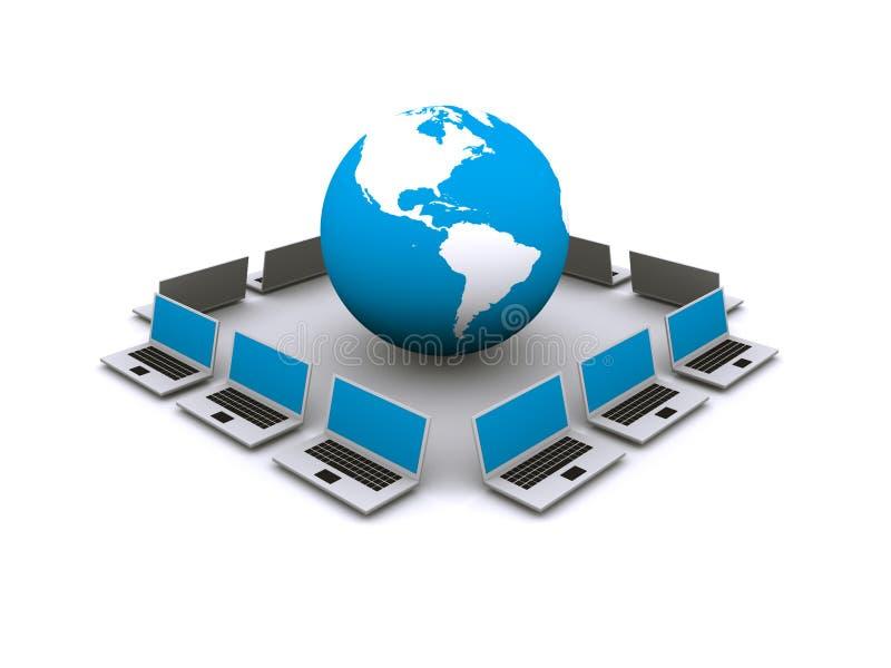World Wide Web e rede informática ilustração do vetor