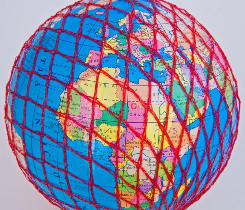 World Wide Web: Europa und Afrika. lizenzfreie stockfotos