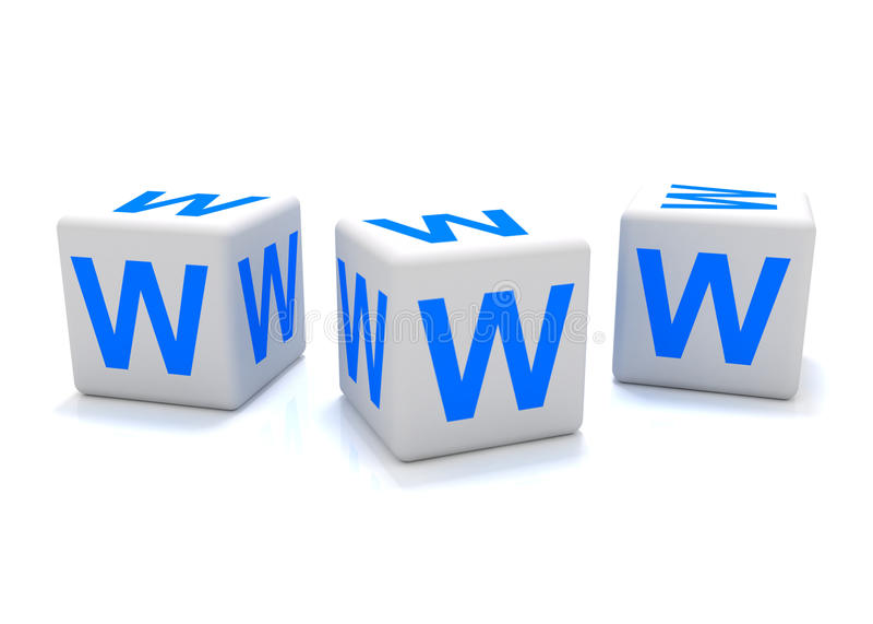 World wide web icon. Isolated on white royalty free illustration