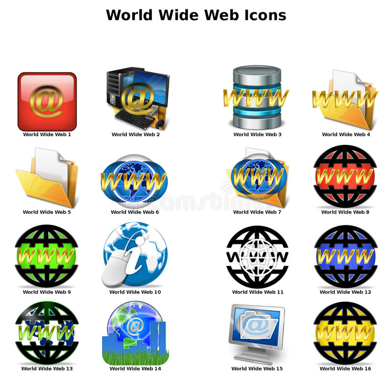 World Wide Web Icons royalty free stock photography