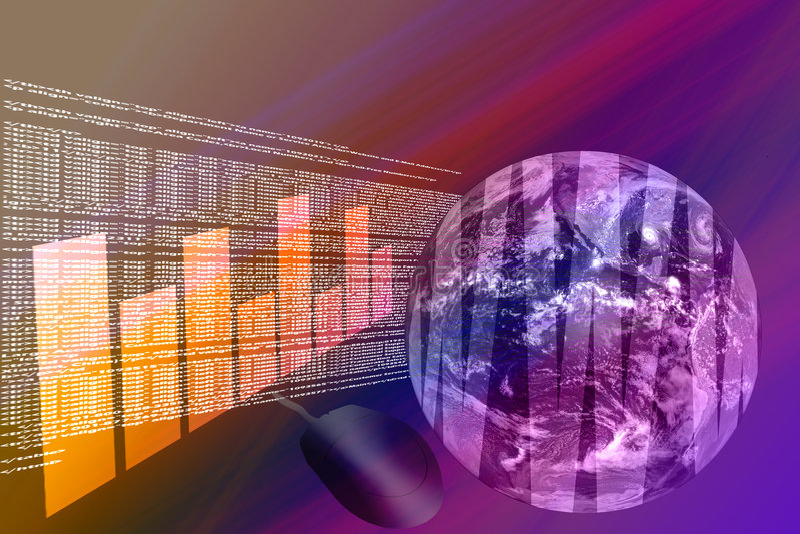 World Wide Web - Internet 3D ilustração stock