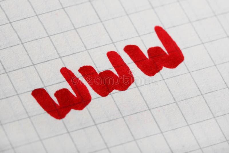 World Wide Web internet symbol concept stock image