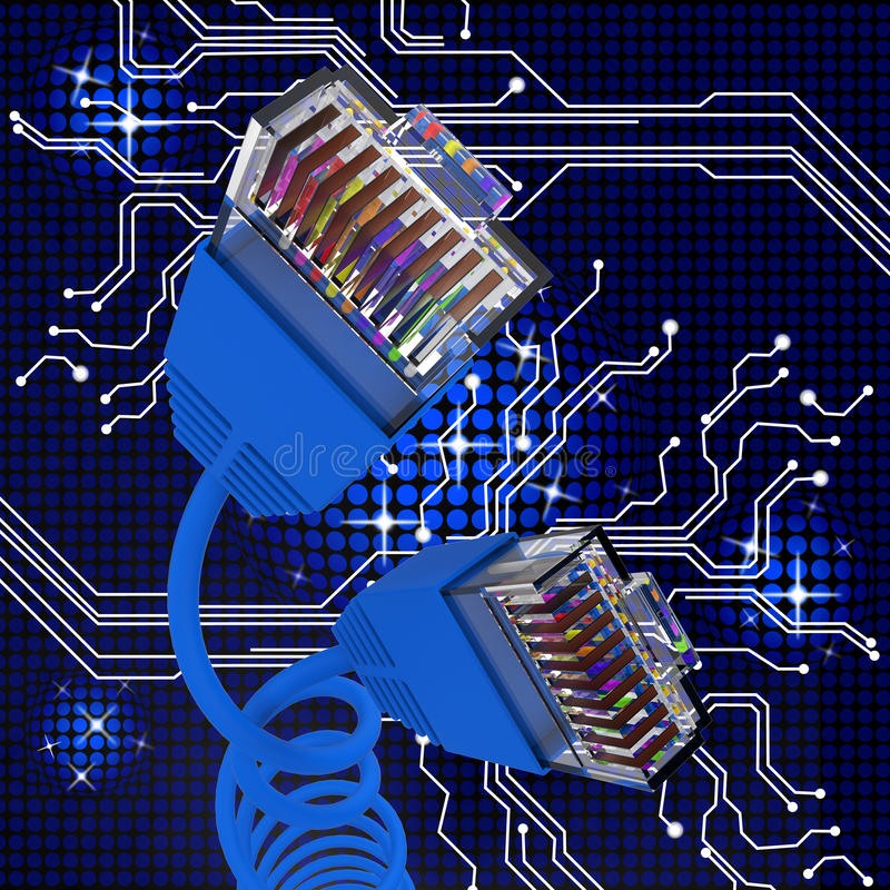 World wide web och kabel för internetuppkopplinghjälpmedel vektor illustrationer