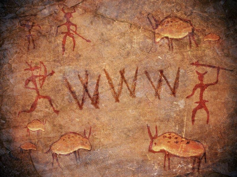 World Wide Web pré-histórico ilustração royalty free