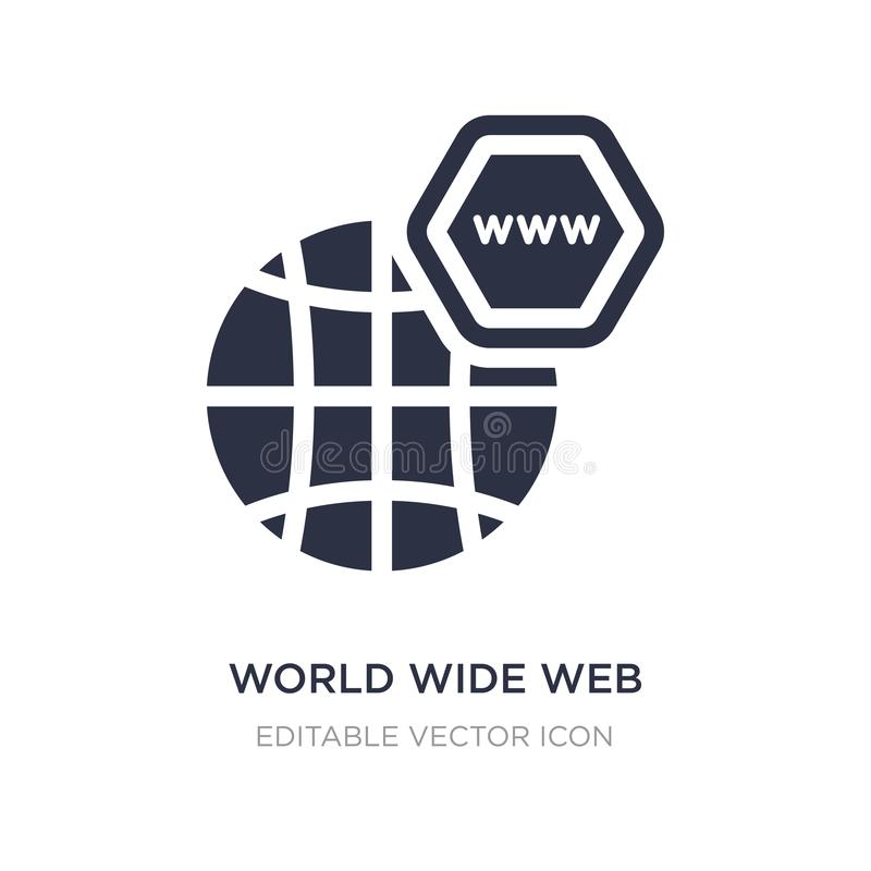 World Wide Web sur l'icône de grille sur le fond blanc Illustration simple d'élément de concept de Web illustration libre de droits