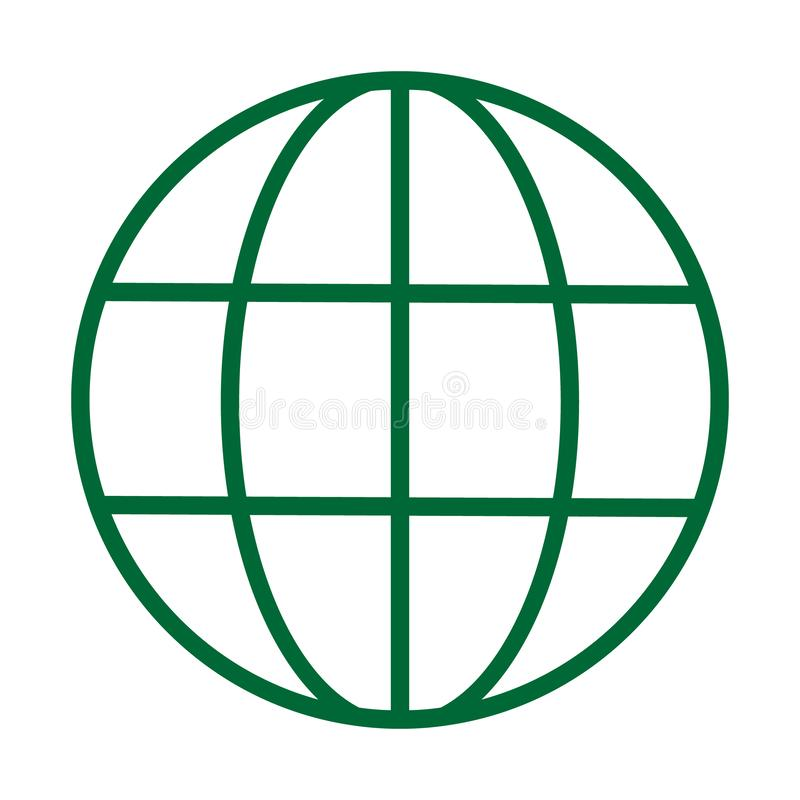 World Wide Web Vector Icon. Vector Line Logo illustration. Browser symbol vector illustration