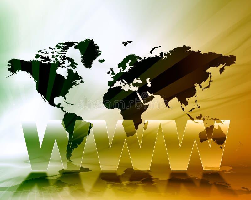 World- Wide Webkarten-Hintergrund lizenzfreie abbildung