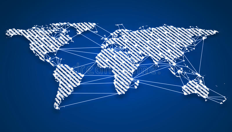 World wide webkommunikation royaltyfri illustrationer