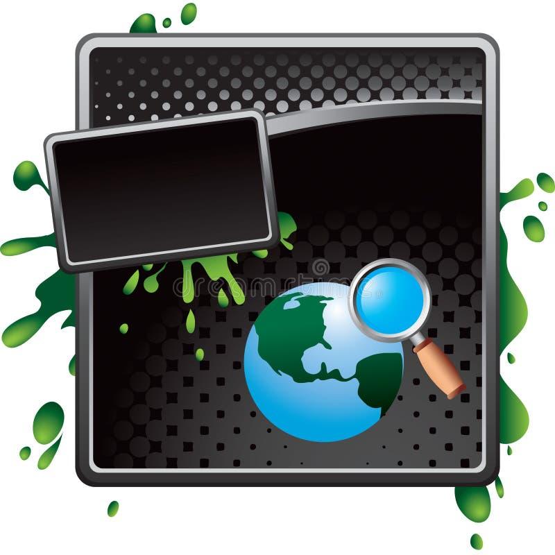 World Wide Webrecherche auf schwarzer Halbtongrunge Anzeige vektor abbildung