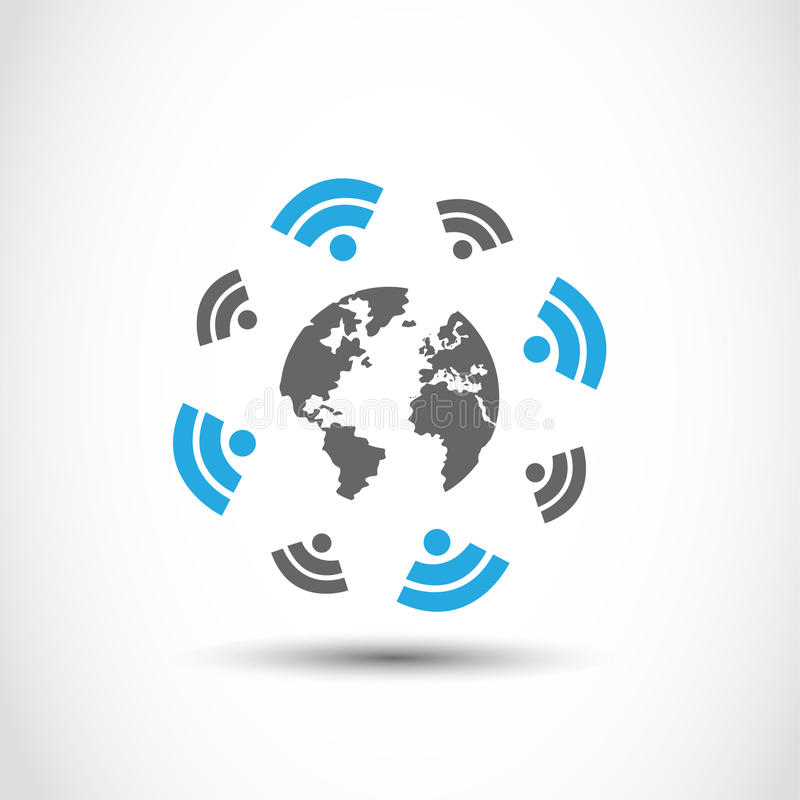 World Wireless Connections Technology Stock Images