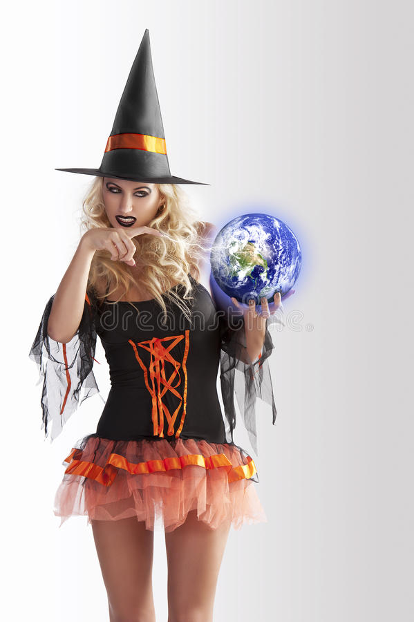 The World And The Witch Stock Images