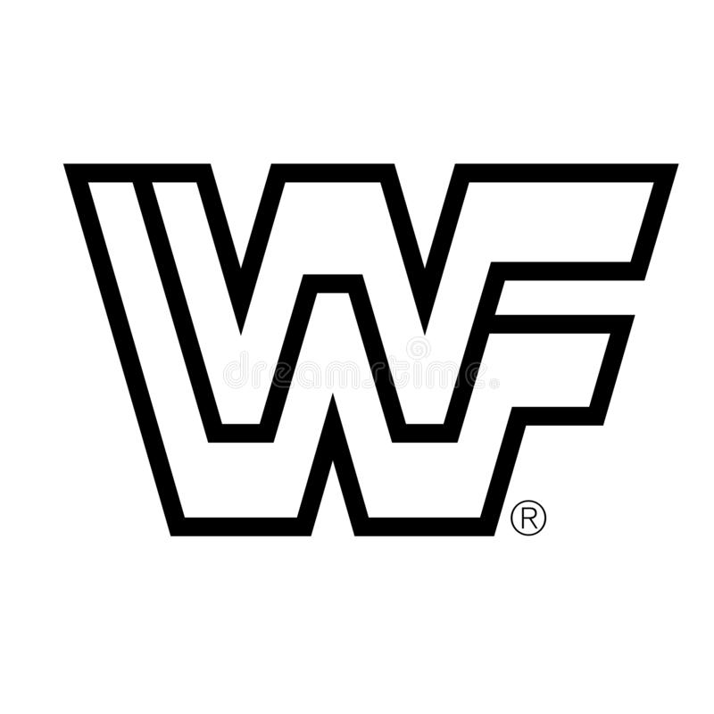 World Wrestling Entertainment WWF WWE ilustracja wektor