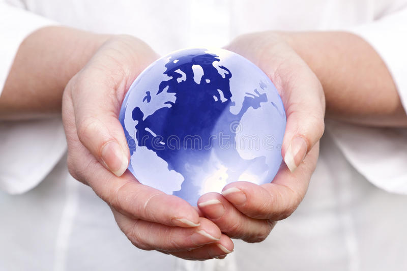 Download World in your hands stock photo. Image of sphere, female - 18375224