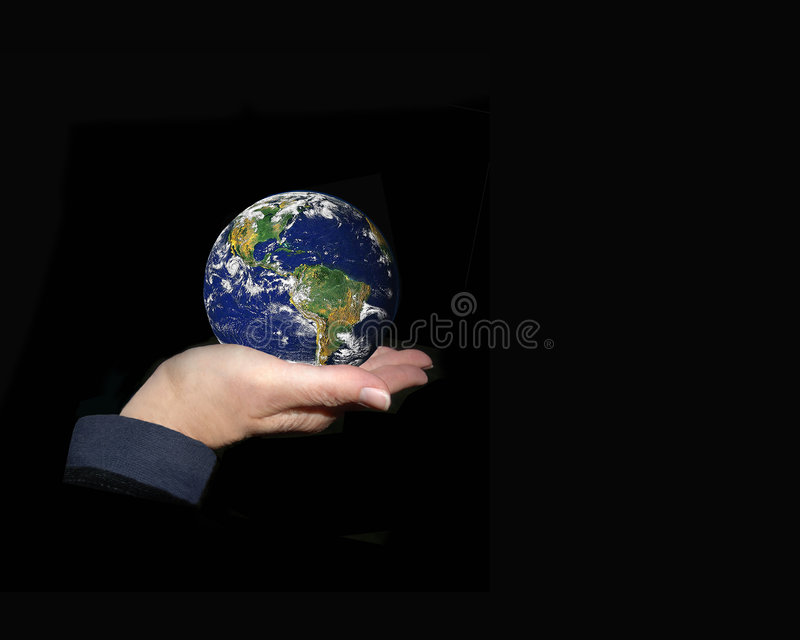 Download The World In Your Hands stock image. Image of hand, blue - 4579155