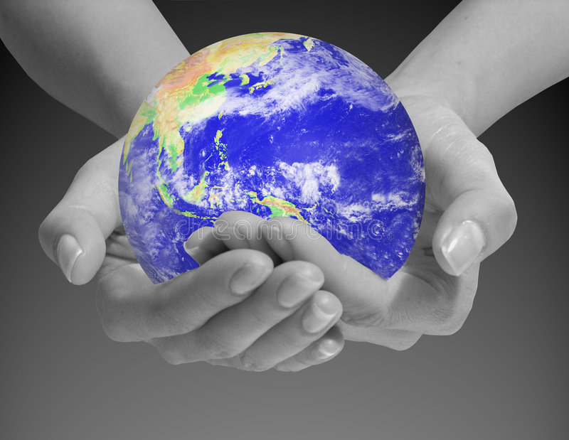 The World is in Your Hands royalty free stock photography