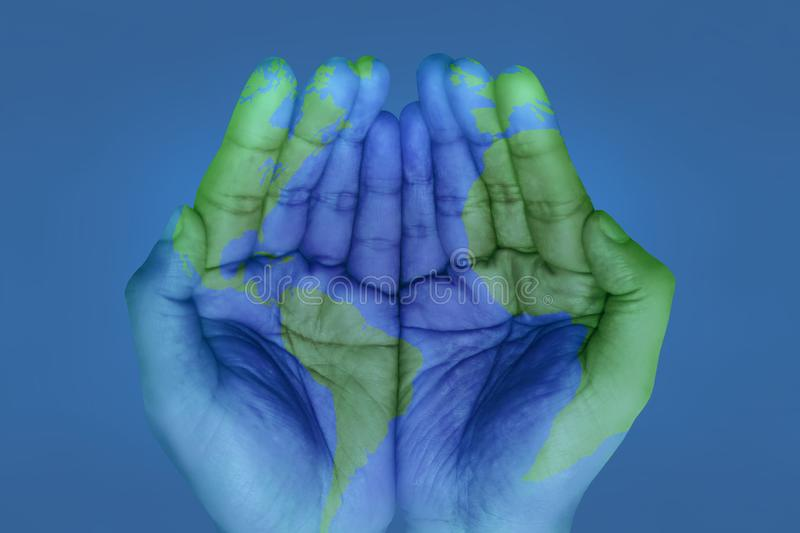 The world in your hands royalty free stock photos