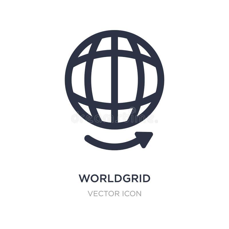 worldgrid Ikone auf weißem Hintergrund Einfache Elementillustration von UI-Konzept lizenzfreie abbildung