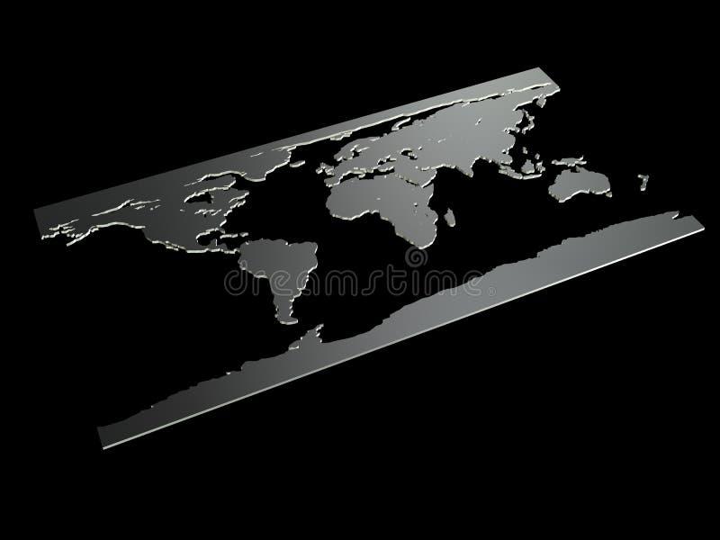 Worldmap stock illustratie