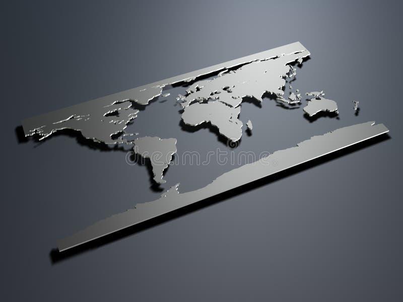 Worldmap royalty illustrazione gratis