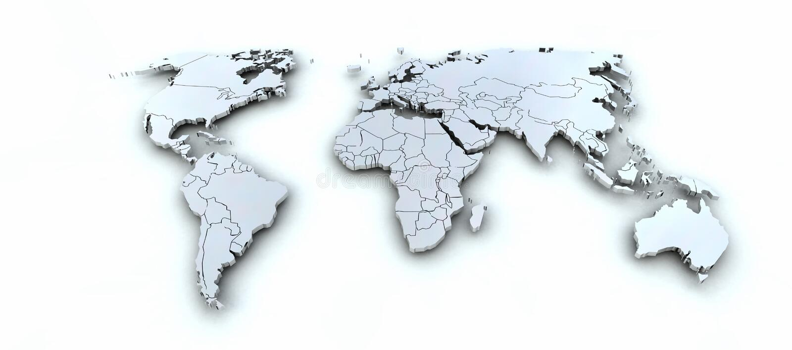Worldmap illustration stock