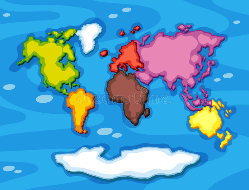 Worldmap in different color continents stock vector illustration download worldmap in different color continents stock vector illustration of clipart colorful 85393347 gumiabroncs Gallery