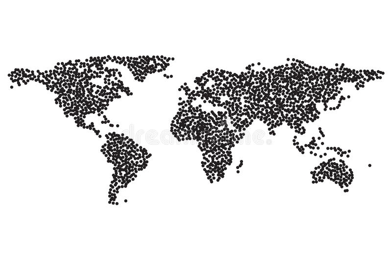 Worldmap dotwork template silhouette stock vector illustration of download worldmap dotwork template silhouette stock vector illustration of illustration globe 93716578 gumiabroncs Image collections