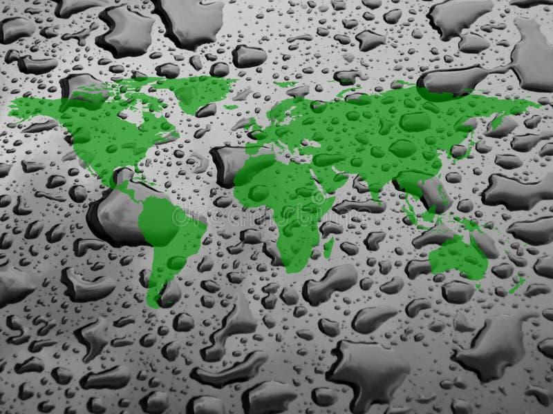 worldmap und Wassertropfen lizenzfreies stockfoto