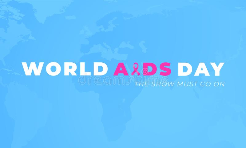 Worlds AIDS Alertness day poster design with blue background royalty free illustration