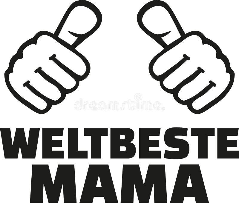 Worlds best Mom german vector illustration