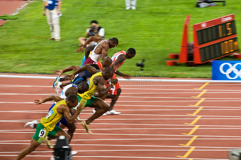 Worlds Fastest Runners royalty free stock photo