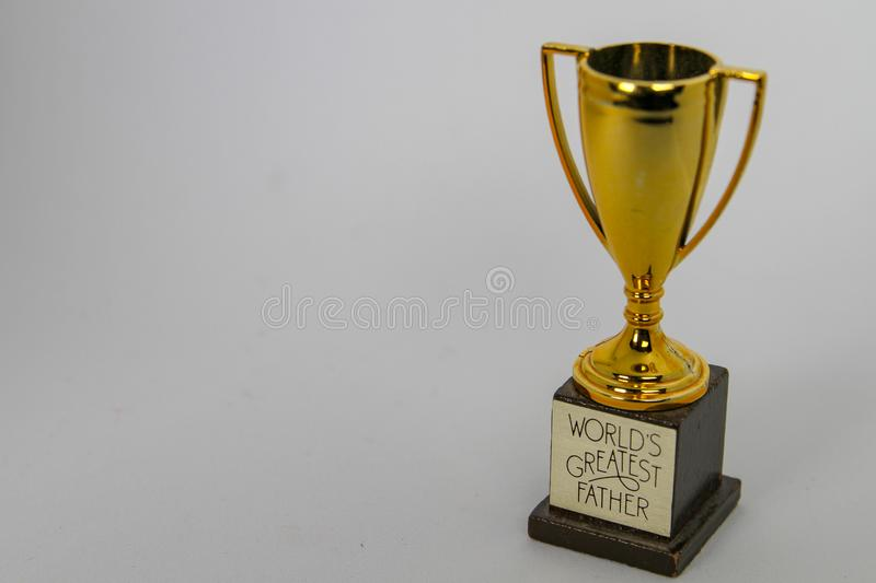 Dad Trophy Cup Stock Photo Image Of Father Close