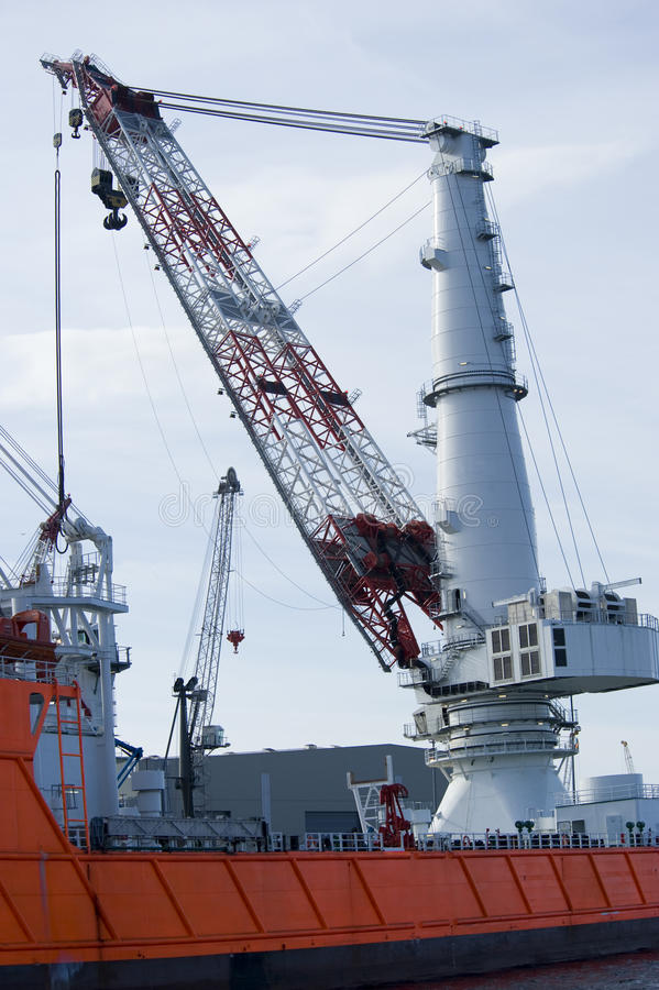 Worlds largest crane royalty free stock photo