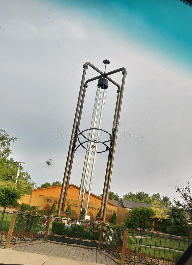 The worlds largest wind chime. Casey, illinois With Elijah Miguel royalty free stock image