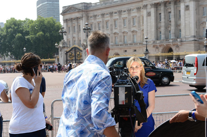 Worlds Media Outside Buckingham Palace Editorial Photo