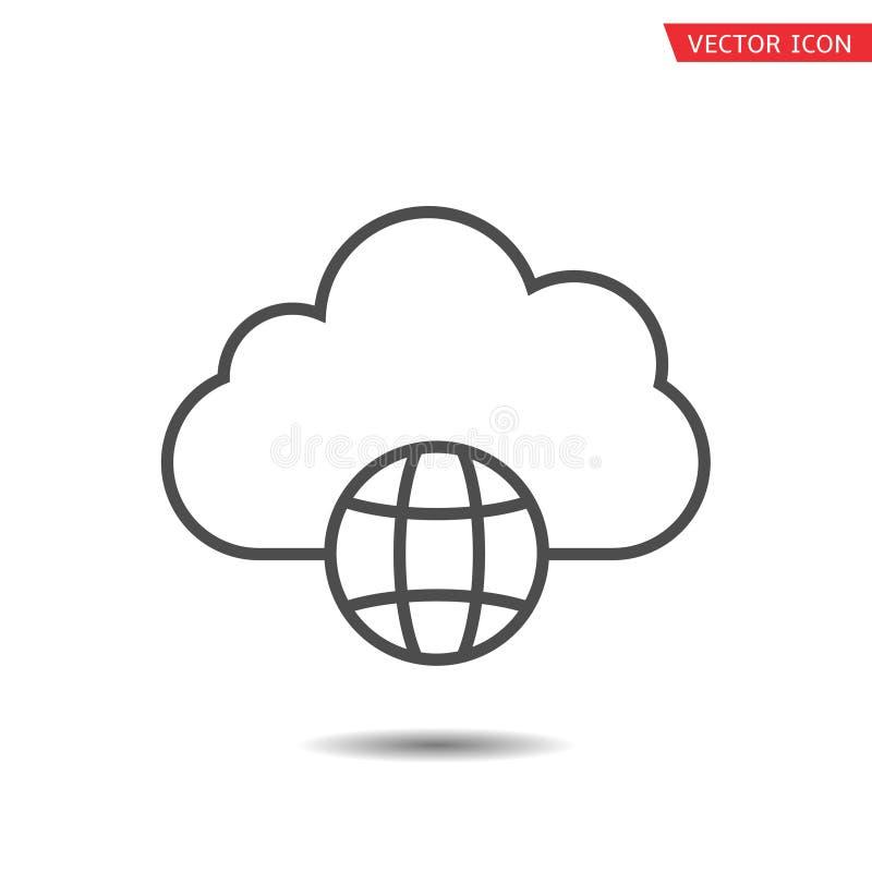 Worldwide cloud storage icon royalty free illustration