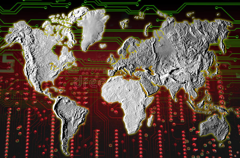 GLOBAL TECHNOLOGY CONCEPT BACKGROUND royalty free stock photos