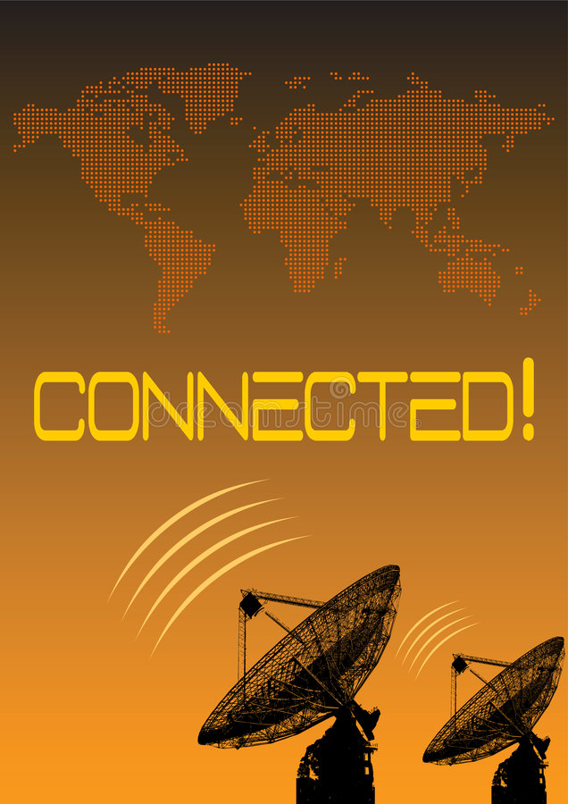 Worldwide Connection royalty free illustration