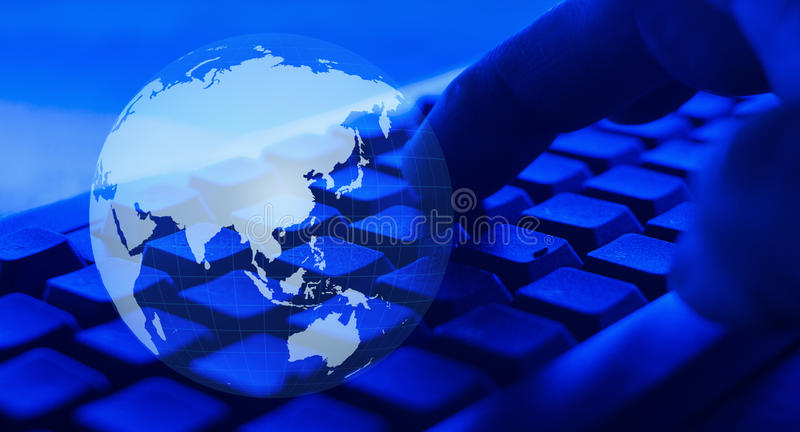 Worldwide cyber attacks, cybercrime. World cyber security background concept royalty free stock photography