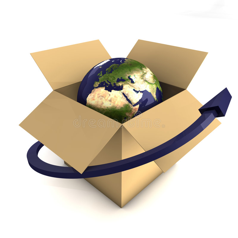 Worldwide Delivery Concept Stock Photos