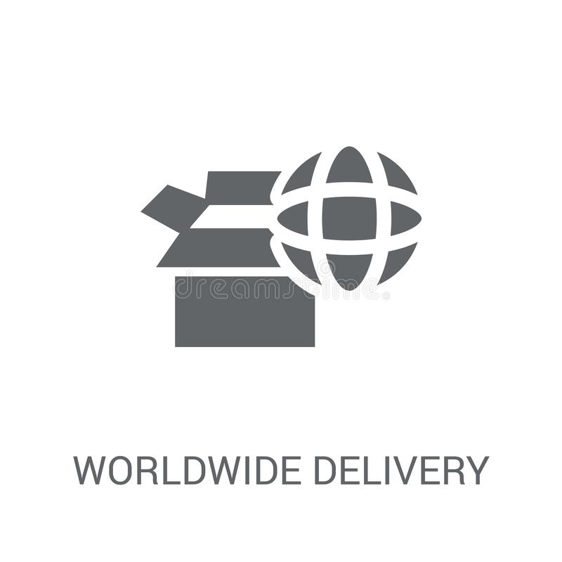 Polygonal House Logo: World Concept Of Delivery Of Goods; Online Shopping