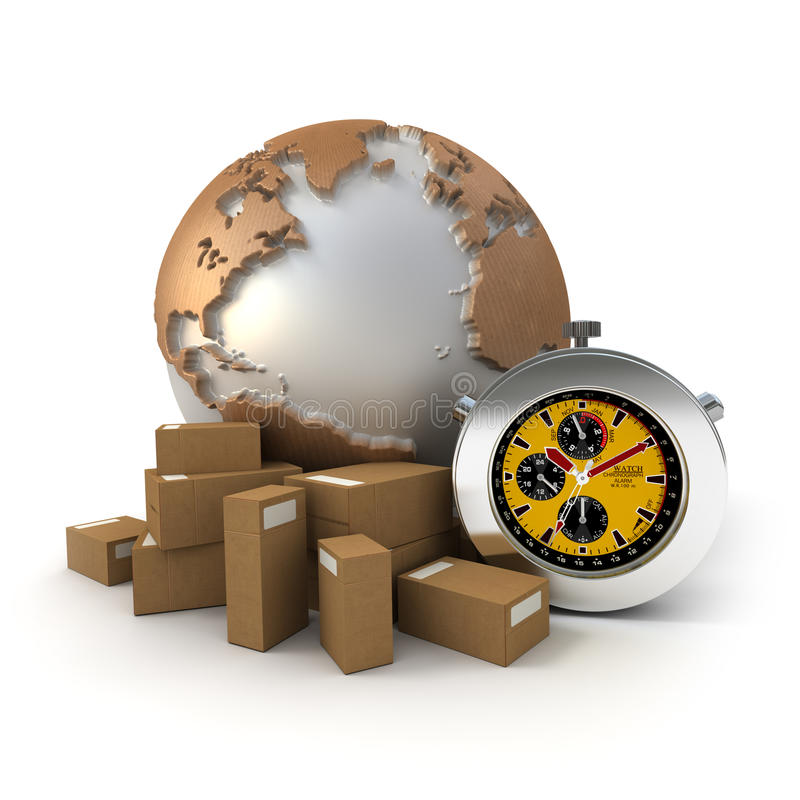 Download Worldwide Express Deliveries Stock Illustration - Image: 10758340