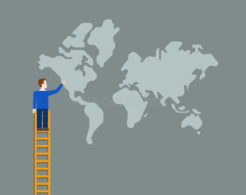 Worldwide global globalization world map business vector flat. Flat style worldwide global business globalization concept web infographics vector illustration vector illustration