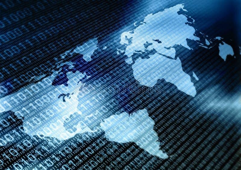 Worldwide Information Exchange royalty free illustration